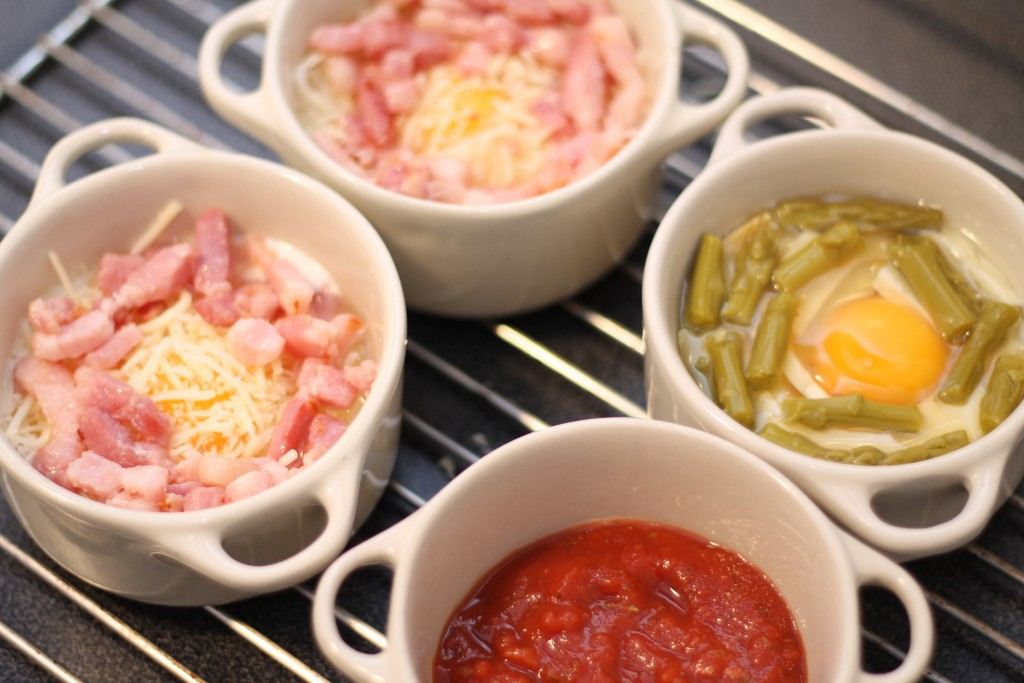 oeuf cocotte lardons fromage