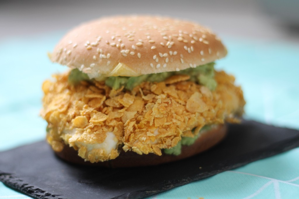 burger au poulet croustillant